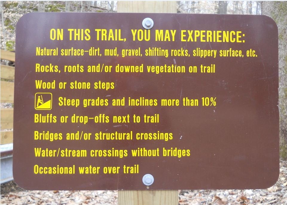 You May Experiecne hiking sign